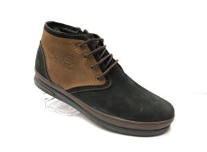 Ec -8828 - Ботинки мужские, нат. нубук - нат. мех, цвет чёрный, шнурок - замок, 8 пар, размеры с 39 по 44 (повторные размеры - 41, 42) - цена 2400 р.