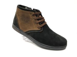 Ec -8829 - Ботинки мужские, нат. нубук - нат. мех, цвет чёрный, шнурок - замок, 8 пар, размеры с 39 по 44 (повторные размеры - 41, 42) - цена 2400 р.