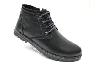 Ec -8830 - Ботинки мужские, нат. кожа - нат. мех, цвет чёрный, шнурок-замок, 8 пар, размеры с 40 по 45 (повторные размеры - 42, 43) - цена 2400 р.