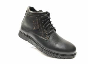 Ec -8831 - Ботинки мужские, нат. кожа - нат. мех, цвет чёрный, шнурок - замок, 8 пар, размеры с 40 по 45 (повторные размеры - 41, 42) - цена 2300 р.