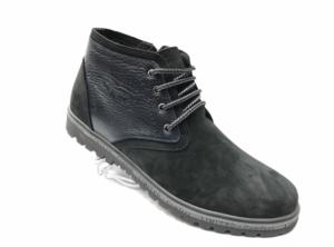 Ec -8832 - Ботинки мужские, нат. нубук - нат. мех, цвет чёрный, шнурок - замок, 8 пар, размеры с 40 по 45 (повторные размеры - 41, 42) - цена 2300 р.