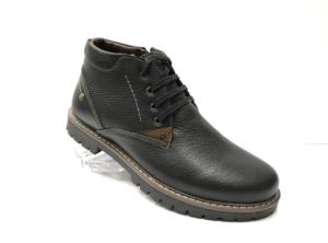 Ec -8833 - Ботинки мужские, нат. кожа - нат. мех, цвет чёрный, шнурок - замок, 8 пар, размеры с 39 по 44 (повторные размеры - 41, 42) - цена 2300 р.