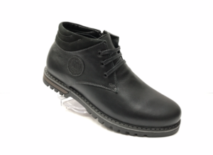 Ec -8834 - Ботинки мужские, нат. кожа - нат. мех, цвет чёрный, шнурок - замок, 8 пар, размеры с 39 по 44 (повторные размеры - 41, 42) - цена 2300 р.