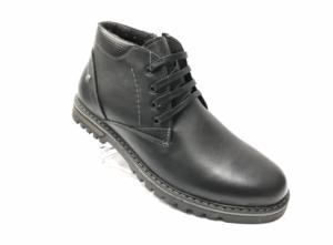 Ec -8835 - Ботинки мужские, нат. кожа - нат. мех, цвет чёрный, шнурок - замок, 8 пар, размеры с 40 по 45 (повторные размеры - 41, 42) - цена 2400 р.