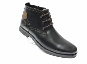 Ec -8836 - Ботинки мужские, нат. кожа - нат. мех, цвет чёрный, шнурок - замок, 8 пар, размеры с 39 по 44 (повторные размеры - 41, 42) - цена 2100 р.
