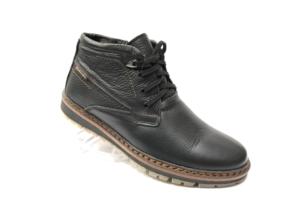 Ec -8837 - Ботинки мужские, нат. кожа - нат. мех, цвет чёрный, шнурок - замок, 8 пар, размеры с 40 по 45 (повторные размеры - 41, 42) - цена 2400 р.