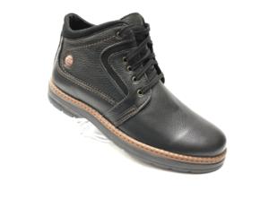 Ec -8838 - Ботинки мужские, нат. кожа - нат. мех, цвет чёрный, шнурок - замок, 8 пар, размеры с 40 по 45 (повторные размеры - 41, 42) - цена 2400 р.