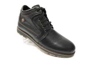 Ec -8839 - Ботинки мужские, нат. кожа - нат. мех, цвет чёрный, шнурок - замок, 8 пар, размеры с 40 по 45 (повторные размеры - 41, 42) - цена 2400 р.