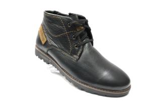 Ec -8841- Ботинки мужские, нат. кожа - нат. мех, цвет чёрный, шнурок-замок, 8 пар, размеры с 40 по 45 (повторные размеры - 42, 43) - цена 2400 р.