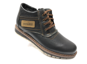 Ec -8842- Ботинки мужские, нат. кожа - нат. мех, цвет чёрный, шнурок-замок, 8 пар, размеры с 40 по 45 (повторные размеры - 42, 43) - цена 2400 р.