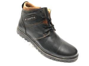 Ec -8843- Ботинки мужские, нат. кожа - нат. мех, цвет чёрный, шнурок-замок, 8 пар, размеры с 40 по 45 (повторные размеры - 42, 43) - цена 2400 р.