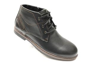 Ec -8844- Ботинки мужские, нат. кожа - нат. мех, цвет чёрный, шнурок-замок, 8 пар, размеры с 40 по 45 (повторные размеры - 42, 43) - цена 2400 р.