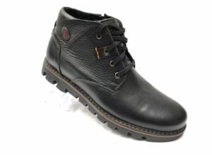 Ec -8845 - Ботинки мужские, нат. кожа - нат. мех, цвет чёрный, шнурок-замок, 8 пар, размеры с 40 по 45 (повторные размеры - 42, 43) - цена 2400 р.