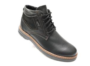Ec -8846 - Ботинки мужские, нат. кожа - нат. мех, цвет чёрный, шнурок-замок, 8 пар, размеры с 40 по 45 (повторные размеры - 42, 43) - цена 2400 р.