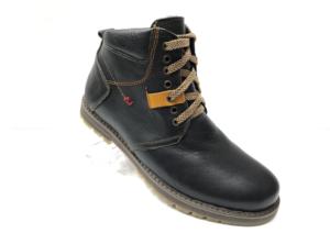 Ec -8847 - Ботинки мужские, нат. кожа - нат. мех, цвет чёрный, шнурок-замок, 8 пар, размеры с 39 по 44 (повторные размеры - 41, 42) - цена 2400 р.