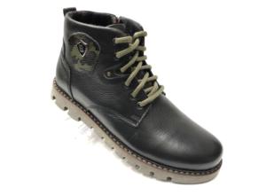 Ec -8848 - Ботинки мужские, нат. кожа - нат. мех, цвет чёрный, шнурок-замок, 8 пар, размеры с 40 по 45 (повторные размеры - 41, 42) - цена 2400 р.