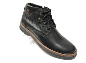 Ec -8849 - Ботинки мужские, нат. кожа - нат. мех, цвет чёрный, шнурок-замок, 8 пар, размеры с 40 по 45 (повторные размеры - 41, 42) - цена 2400 р.