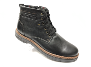 Ec -8850 - Ботинки мужские, нат. кожа - нат. мех, цвет чёрный, шнурок-замок, 8 пар, размеры с 40 по 45 (повторные размеры - 41, 42) - цена 2400 р.
