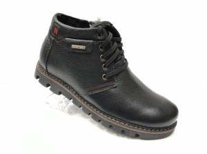 Ec -8851 - Ботинки мужские, нат. кожа - нат. мех, цвет чёрный, шнурок-замок, 8 пар, размеры с 39 по 44 (повторные размеры - 41, 42) - цена 2300 р.