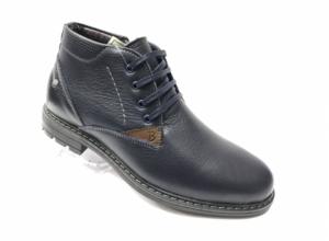 Ec -8859 - Ботинки мужские, нат. кожа - нат. мех, цвет синий, шнурок-замок, 8 пар, размеры с 39 по 44 (повторные размеры - 41, 42) - цена 2400 р.