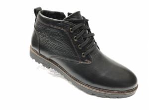 Ec -8862 - Ботинки мужские, нат. кожа - нат. мех, цвет чёрный, шнурок-замок, 8 пар, размеры с 39 по 44 (повторные размеры - 41, 42) - цена 2300 р.