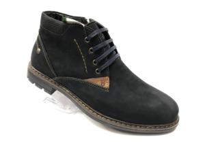 Ec -8863 - Ботинки мужские, нат. нубук - нат. мех, цвет чёрный, шнурок-замок, 8 пар, размеры с 39 по 44 (повторные размеры - 41, 42) - цена 2400 р.