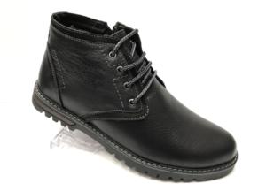 Ec -8864 - Ботинки мужские, нат. кожа - нат. мех, цвет чёрный, шнурок-замок, 8 пар, размеры с 39 по 44 (повторные размеры - 41, 42) - цена 2300 р.