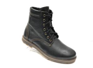 Ec -8866 - Ботинки мужские, нат. кожа - нат. мех, цвет чёрный, шнурок-замок, 8 пар, размеры с 39 по 44 (повторные размеры - 41, 42) - цена 2550 р.