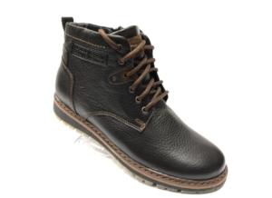 Ec -8867 - Ботинки мужские, нат. кожа - нат. мех, цвет чёрный, шнурок-замок, 8 пар, размеры с 40 по 45 (повторные размеры - 41, 42) - цена 2400 р.