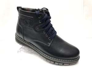 Ec -8868 - Ботинки мужские, нат. кожа - нат. мех, цвет синий, шнурок-замок, 8 пар, размеры с 40 по 45 (повторные размеры - 42, 43) - цена 2400 р.