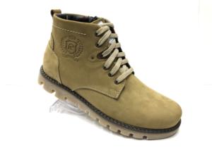 "Ec -8871 - Ботинки мужские, нат. кожа - нат. мех, цвет ""олива"", шнурок-замок, 8 пар, размеры с 40 по 45 (повторные размеры - 42, 43) - цена 2450 р."