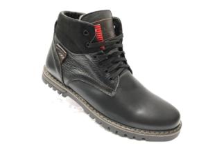 Ec -8876 - Ботинки мужские, нат. кожа - нат. мех, цвет чёрный, шнурок-замок, 8 пар, размеры с 39 по 44 (повторные размеры - 41, 42) - цена 2400 р.